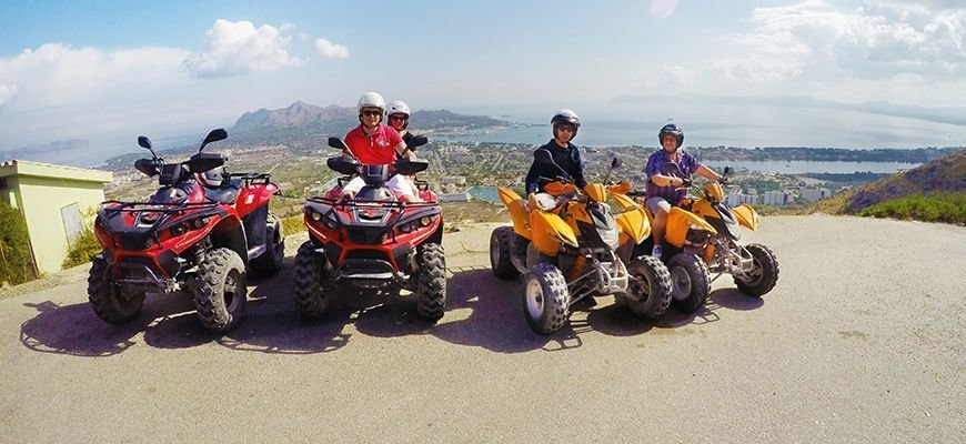 quad excursion in mallorca