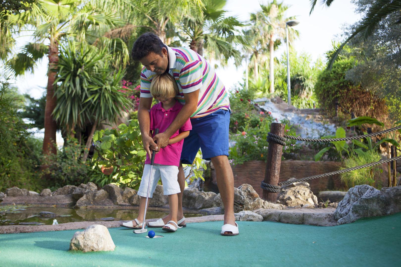 Playing in Golf Fantasia