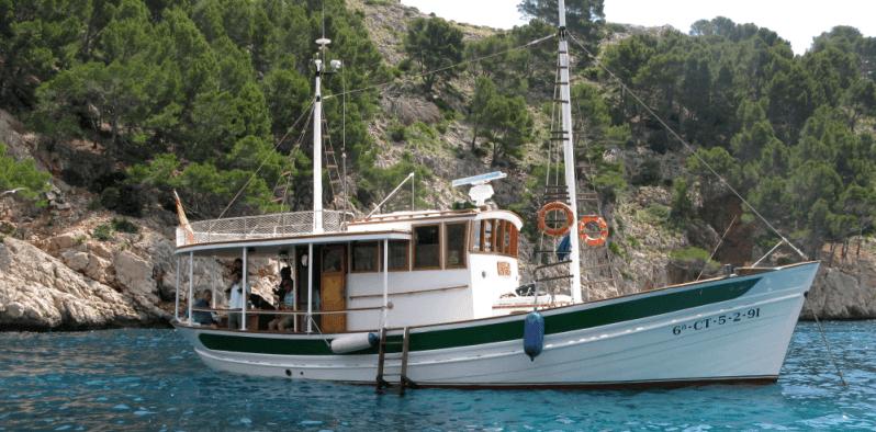 Boat in Pollensa Bay