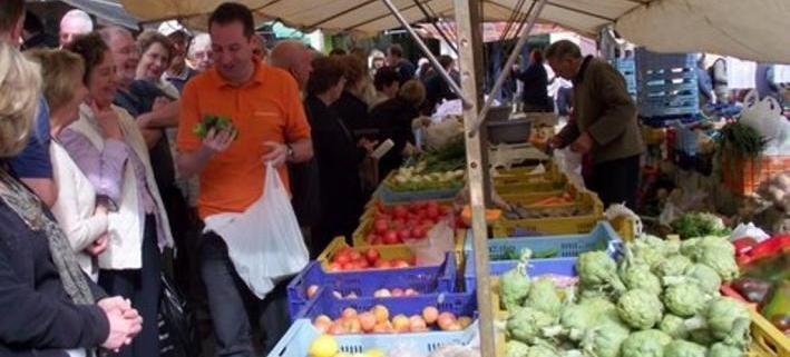 visit at the market