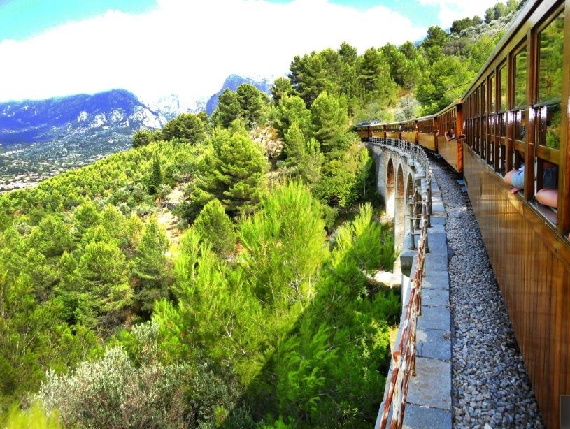 Beautiful views from Soller Train